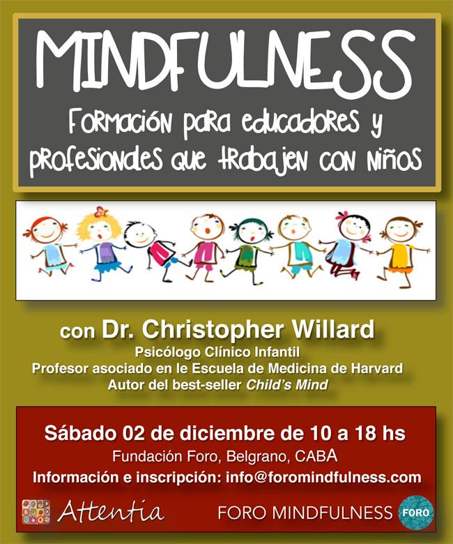 Formación de Mindfulness educadores y profesionales que trabajen con niños